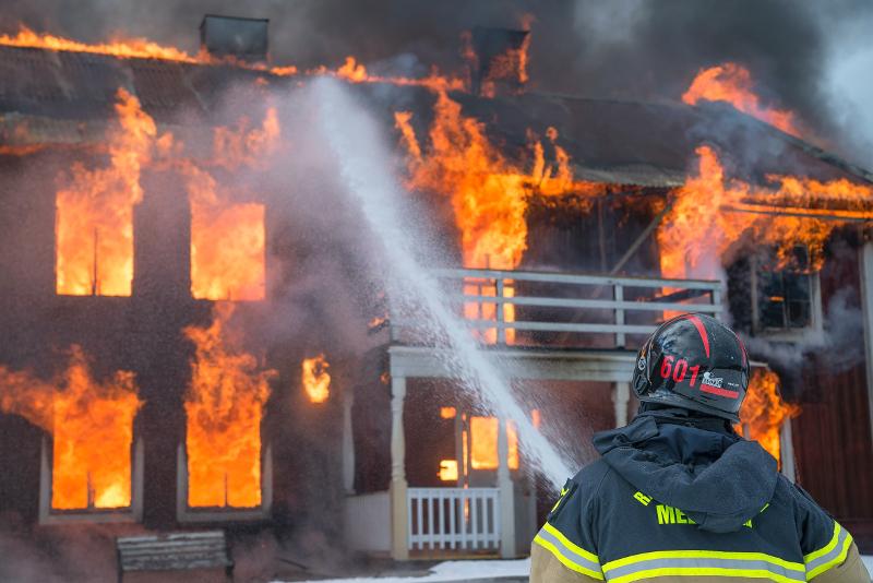 Ventilatiesysteem tijdens brand