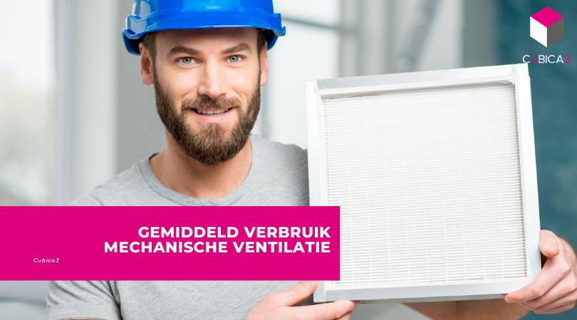 Gemiddeld verbruik mechanische ventilatie
